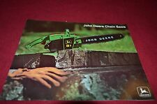 John Deere 61 81 91 14 18 19 23 Chain Saw For 1973 Dealer Brochure DCPA3