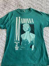 Madonna Who's That Girl 1987 World Tour Worn T-Shirt Green