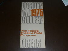 1975 OCCIDENTAL COLLEGE TRACK AND FIELD MEDIA GUIDE