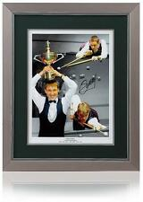 "Stephen Hendry hand signed 23x19"" framed Snooker Montage AFTAL photo proof COA"