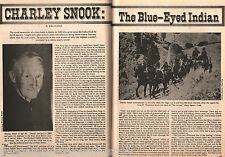 Charley Snook - The Blue-Eyed Indian + Indian Genealogy