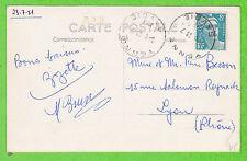 Sur CPSM - Horoplan YENNE (Savoie) du 23-7-1951