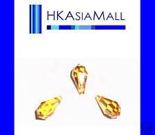 6 Swarovski Crystal Beads Teardrops 6000 11x5.5mm TOPAZ