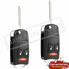 2 Replacement For 2006 2007 2008 2009 Dodge Ram Remote Key Fob Flip Shell