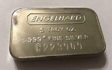 Engelhard 5 Troy oz .999 Fine Silver Bar C Series / Ships Fast!