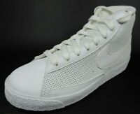 Nike Blazer MID PS 375490 112 Boys Shoes White Sneakers Leather High Top Defectv