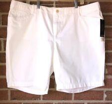 NWT $65 Ralph Lauren LRL Lauren Jeans Co. White Midi Walking Shorts 20W