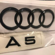 Audi S-line Sports Black Gloss A-5 Boot Badge Set A5 S5 Rs5 (curved 192*63mm)