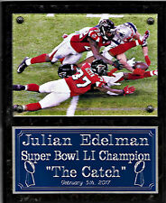 "Julian Edelman ""The Catch""  Patriots Super Bowl 51, LI champions plaque"