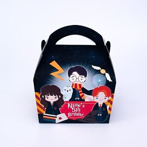 Harry Potter Personalised Children Party Boxes Gift Favour