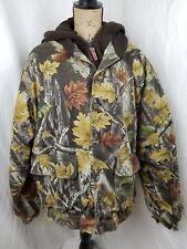 Master Sportsman Prestige lined camo hunting hooded Coat jacket deer mens Large