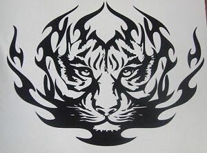 "LARGE 24"" car van bonnet tiger head tribal vinyl graphic side sticker wall art"