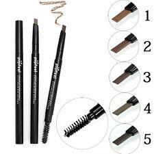 Popfeel 2 in 1 WaterProof Eye Brow Eyeliner Eyebrow Pen Pencil  Brush Makeup-