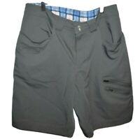 LULULEMON Active Shorts Micro stripe Mens 34 Gray