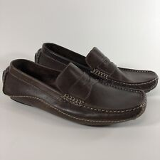 Clarks Mens 8 Brown Leather Loafer Shoe Slip On S
