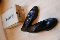 Bates Men's Black Leather Uniform Oxford 9-1/2 00968 NIB