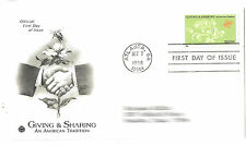 US First Day Cover - Oct 7, 1998 - Giving & Sharing American Tradition 32¢ stamp
