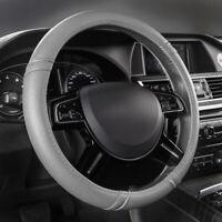 Universal Car Steering Wheel Covers Faux Leather Grey Non-slip for SUV VAN Sedan