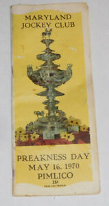 Maryland Jockey Club ~ 1970 PREAKNESS DAY Program .. Pimlico Maryland