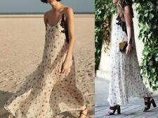 Zara Studio Maxi vestido de flores punta Long floral printed dress size s m 2698/797