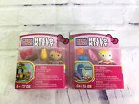 Mega Bloks Hello Kitty Tiki And Surfing Mimmy Summer Series Mini Figure Lot NEW