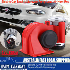 12V Snail Compact Dual Tone Electric Pump Loud Air Horn Red Motorcycle/Car/Truck