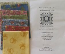 It's A Stitch SAMPLER Quilt Block Kit WORLD WITHOUT END Month 12 Marti Michell