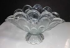 Crystal Clear TOSCANA Banana Fruit Bowl Centerpiece Frosted & Clear Loop Panels