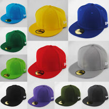 NEW ERA 59fifty PLAIN CAP HAT 5950 ROYAL, BLACK, RED