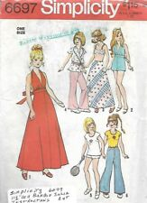 Simplicity 6697 Wardrobe for Fashion Dolls Barbie Dusty Maddie Mod Vintage 1974