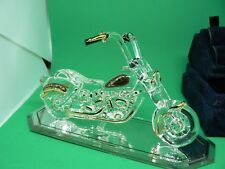 VERY SPECIAL GLASS CRYSTAL MOTORCYCLE THE OUTLAW GLASS BARON BRAND   GB1