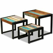 vidaXL Solid Reclaimed Wood Nesting Tables - Set of 3 (243279)