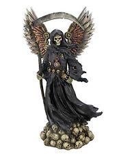"11.5"" Steam Punk Grim Reaper Statue La Santisima Muerte Santa Skull Holy Death"