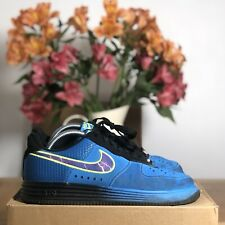 Mens NIKE LUNAR AIRFORCE 1 LOW LTHR LIGHTNING Chunky Y2K Trainer Blue US8/UK7/41