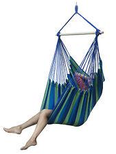 Sorbus Brazilian Hammock Chair Swing  for Indoor or Outdoor Spaces (Blue Multi)