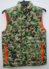 """LNG Clothing Equipment Boys XL 40"""" Pit to Pit Camo Camouflage Vest Hidden Hood"""