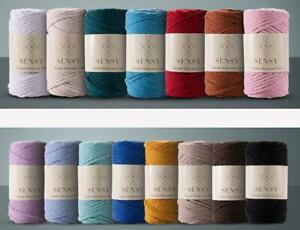 Macrame Organic Cotton Cord Single Twisted 3.5mm 246ft Rope 20 Color Option Yarn