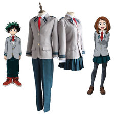 My Hero Academia Boku No Izuku Ochaco School Uniform Outfit Cosplay Anime Mens