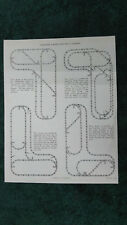 LIONEL 1622 LAYOUTS FOR TWO 4 X 8 BOARDS INSTRUCTIONS PHOTOCOPY