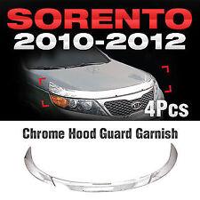 Chrome Front Hood Guard Garnish Wind Deflector B517 For 2010-2012 Kia Sorento R