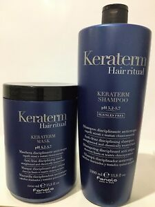 Fanola Keraterm Shampoo,& Reconstructive Mask 1000 mil,  FREE POSTAGE