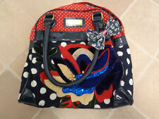 Next Embroidered and sequined canvas handbag with fabric bow Excellent condition