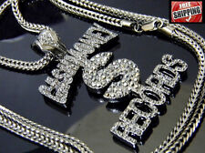 Hematite Cash Money Records Dollar Sign Pendant Franco Chain Hip Hop Iced Out