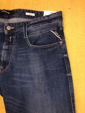 Mens Replay ANBASS M914 Stretch Slim Fit Blue Jeans W34 / L32.