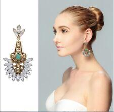 Vintage Jewelry Women Turquoise Stone Charm Tibetan Boho Drop Dangle Earrings