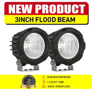 "OSRAM 3"" LED Work Lights Pair Flood Spot Headlight Reverse Lamp Motorcycle Truck"