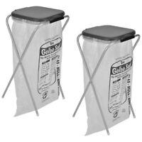 2x Müllsackständer für 1 Müllbeutel Mülltonne Müllsackhalter Müllständer schwarz