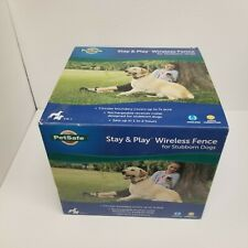 PetSafe Pif00-13663 Stay+Play Wireless Fence w/ Waterproof/Recharge Collar, New