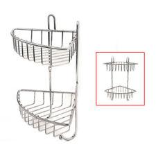 2 Tiers Bathroom Shower Shelf Corner Organiser Caddy Shampoo Storage Holder S247