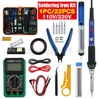 Solder 22 Pcs Set Soldering Iron Kit 60W 220 Volt Best for Small Electric Work